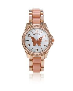 White House | Black Market 2014 Give Hope Butterfly Watch #whbm. Cell phones have ruined the need for watches, but this one is so pretty! :)