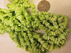 """Close Out Beads Lime Green Dyed Chalk Turquoise chip 36"""" strand by FLcowgirls, $3.99"""