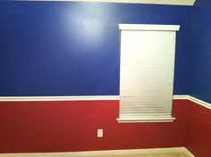Texas Rangers bedroom paint ideas for Triston's room! Kids Bedroom Paint, Boy Room Paint, Bedroom Wall Colors, Bedroom Red, Marvel Bedroom, Avengers Bedroom, Baseball Room Decor, Texas Rangers, Rangers Gear