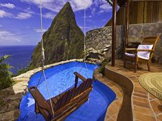 LADERA RESORT, ST. LUCIA Romantic, eco-luxe resort located on the top of the Soufriere Volcano with spectacular views of the Pitons.