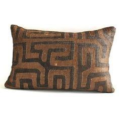 Appliqué Kuba Cloth Pillow No. 6 - The Loaded Trunk