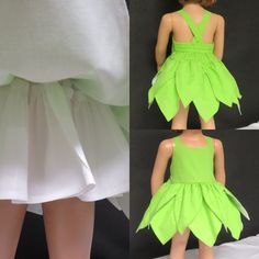 Tinkerbell Costume Toddler, Tinkerbell Outfit, Baby Frock Pattern, Frock Patterns, Kids Dress Up, Toddler Dress, Dress Girl, Diy Baby Costumes, Girl Costumes