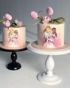 Cake Frosting Designs, Cake Designs, Cake Decorating Techniques, Cake Decorating Tips, Fondant, Elegant Birthday Cakes, Wedding Cake Red, Fancy Desserts, Little Cakes