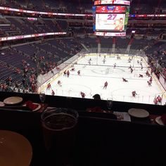 Decided to get here early and enjoy the special seats! Gotta love it when you get your own waiter at the game! Not sure if we've ever seen the warm up before! #letsgocaps  #letswinthis #washington #capitals #hockey #acela #spoiled #tuesday #greatneighbors #bhgfood #buzzfeast #droolclub #f52gram #feedfeed #foodblognation #foodgawker #foodprnshare #forkfeed #gloobyfood #kitchenbowl #huffposttaste #sweetmagazine #thekitchn #FoodBloggerLove #foodblogger #foodblog…