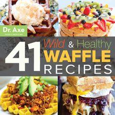 41 Wild & Healthy Waffle Recipes (no. 7 is crazy!)  http://www.draxe.com #recipe #healthy #breakfast