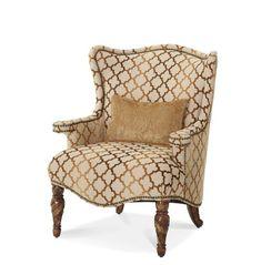 AICO Furniture - Villa Valencia Wing Chair - 72836-GRBRZ-
