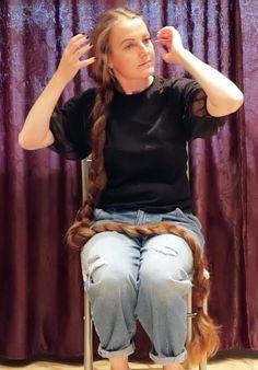Long Hair Play, Hair Cover, Playing With Hair, Beautiful Braids, Super Long Hair, Braids For Long Hair, Hair Brush, Simply Beautiful, Hair