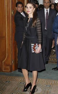 Queen Rania with Baleciaga open toe pumps- Fashion 4 Development 5th Annual Official First Ladies Luncheon @ Pierre Hotel, NYC, September 2015