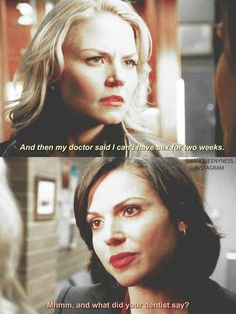 Awesome Regina and Emma (Lana and Jen) Once Once Upon A Time Funny, Once Up A Time, Otp, Regina And Emma, The 100 Clexa, Ashley S, Swan Queen, Regina Mills, Jennifer Morrison