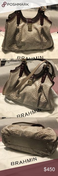 Brahmin purse New Brahmin purse/ elisa creme rhodes genuine leather. Not part of bundle Brahmin Bags Hobos