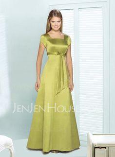 Bridesmaid Dresses - $107.99 - Nice A-Line/Princess Scoop Neck Floor-Length Satin Bridesmaid Dress with Sash (007001490) http://jenjenhouse.com/pinterest-g1490
