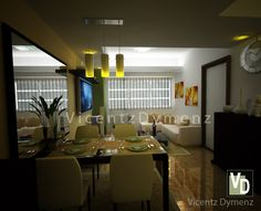 Studio Type Condo, 3d Interior Design, Thing 1, Conference Room, Bedroom, Table, Furniture, Home Decor, Decoration Home