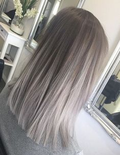 Silver Color Shade for Straight Hairstyles 2018 Ombre-Silver color shade for straight hairstyles 2018 ombre looks good on any hair length