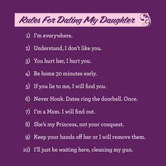 5047e6d8b Mom's Rules for Dating My Daughter T-Shirt | My Social Tees Respektieren  Sie,
