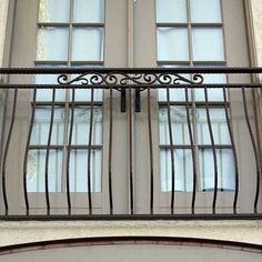 Claire's wrought iron balcony
