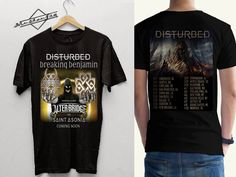 fashionbytaufiqDisturbed tour 2016 Tshirt Black T-shirt Men Front and back shirt  #Knotfest #KnotfestMexico #Slipknot #Disturbed #Chevelle #Meshuggah #Opeth #Deftones #MarilynManson #Sevendust #Slayer