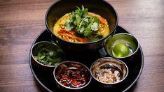 Chicken Khao Soi Masterchef Recipes, Burmese Food, Khao Soi, Fresh Turmeric, Asian Recipes, Ethnic Recipes, Roasted Peanuts, Network Ten, Palak Paneer
