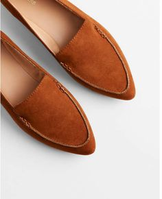 dbcf73e52fef Express faux suede pointed toe loafers Brown Loafers