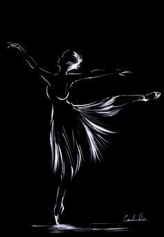Ink Drawings Minimalist Art Print, Ballerina Ink Drawing, Print from Original Drawing, Modern Wall Art by CanotStopPrints on Etsy - Ballerina Kunst, Ballerina Drawing, Ballet Drawings, Dancing Drawings, Ink Drawings, Horse Drawings, Black And White Painting, White Art, White Chalk