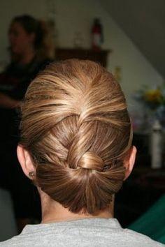 elegant twisted updo - no curls