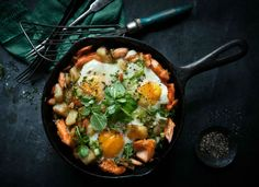 Delicious recipe for Breakfast Eggs with Flaked Ocean Trout - perfect for brunch
