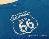 California Route 66 Design Available in Onesie Bodysuits, Infant & Toddler T-shirts!