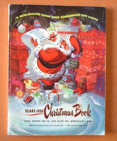vintage sears 1950 christmas book catalog marx toys much more nr - Sears Christmas Catalog