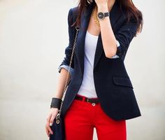 if I'm going to wear a blazer, I'd love to do take it down (and up!) a notch with a bold pant
