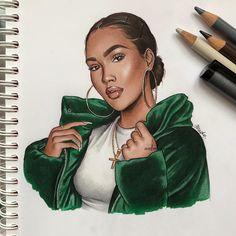 Drawing cute girl sketches art 35 Ideas for 2019 Girly Drawings, Cool Art Drawings, Art Drawings Sketches, Black Love Art, Black Girl Art, Art Girl, Copic Kunst, Copic Art, Cartoon Kunst