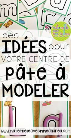 Des idées pour votre centre de pâte à modeler - with links to lots of FREE seasonal play dough mats!
