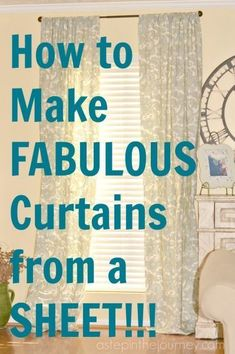 This is GENIUS. Here is a simple tutorial to make curtains from a flat twin sheet AND you don't even have to get out your sewing machine!
