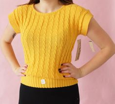 Check out this item in my Etsy shop https://www.etsy.com/listing/484140354/deadstock-1970s-sweater-top-vintage
