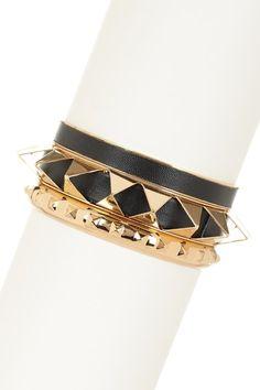 October Jewelry Blowout on HauteLook Bansri Spike Bracet Set