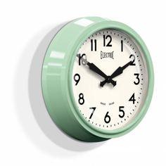 Reloj retro de pared '50s Eléctrico Verde