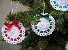 Best 11 Crochet tree, for Christmas decorations, set of 6 tree decorations, wonderful for your Christmas tree. If you want they can be – SkillOfKing. Crochet Christmas Wreath, Christmas Angel Ornaments, Crochet Christmas Decorations, Crochet Decoration, Crochet Ornaments, Christmas Crochet Patterns, Holiday Crochet, Christmas Bells, Tree Decorations
