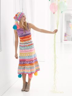 Image of Over The Top Dress  #crochet