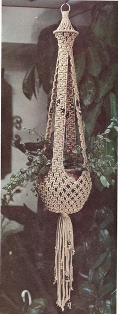 This listing is for a macramé pattern for a flower pot hanger. I have scanned these patterns into a pdf file .Once this item is paid for, you can download the pattern. . Over the years I have collected a large number of vintage knitting & crocheting patterns and thought I would share them with everyone. These patterns are quite old, very vintage and wonderful and as such some have turned a bit yellow, but I have been able to clarify them quite abit. I hope you enjoy them as much as I do. #32