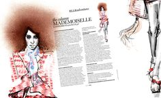 complimentary colour fashion illustrations - Google Search