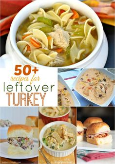 50+ recipes to make with Leftover Turkey! You can substitute chicken in most of these delicious recipes too!