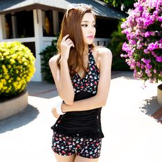New arrival 2013 women's one-piece swimsuit hot spring swimwear small push up