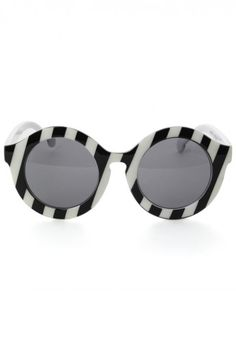 b2d474f30b1 Black and White Shades Round Frame Sunglasses
