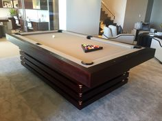 This marquis piece embodies a shrewd, thoughtful nature. Each individually crafted layer is meticulously integrated into a composition that renders the Arclight a whole that. Diy Pool Table, Outdoor Pool Table, Custom Pool Tables, Modern Pools, Higher Design, Table Games, Modern Luxury, Game Room, Man Cave