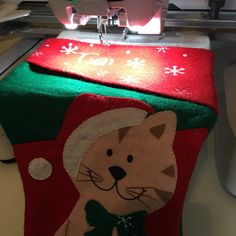 Stitching up the first Christmas stocking of 2016 for Christmas in July!
