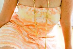 flax & twine | craft + diy: DIY Gold Ring Necklace - a year of handmade gift