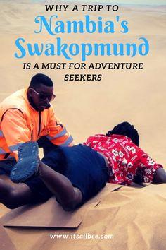 Adventures in Swakopmund, Namibia: Sandboarding and Skydiving