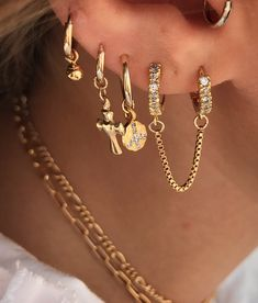 chain hoops les deux jewelry