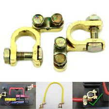 New 2Pcs Replacement Auto Car Battery Terminal Clamp Clips Brass Connector