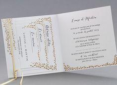 Faire-part de mariage Diane M22-030-O - Collection Classique - Faire-part-creatif.com