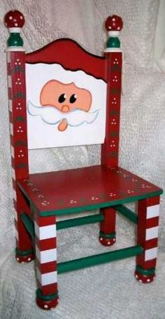 Holiday Decorated Chair to display your favorite doll or teddy bear