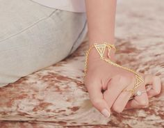 Pinterest • @KrutiChevli Hand Bracelet, Bangle Bracelets, Bangles, Geometric Jewelry, Modern Jewelry, Indian Accessories, Fashion Accessories, Surbhi Chandna, Hand Jewelry